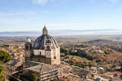 montefiascone cathedral on Bolsena lake, Viterbo, Lazio, Italy