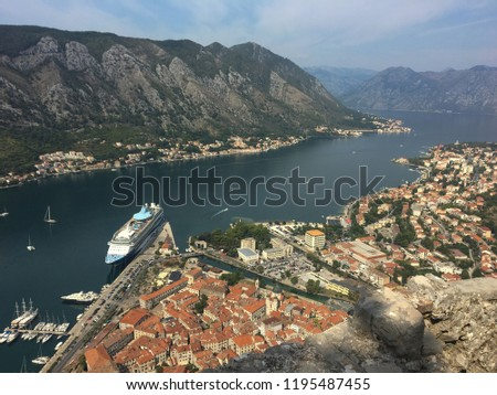 Montenegro and the city of kotor #1195487455