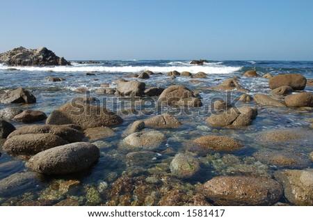 Monterey Bay Shoreline Rocks
