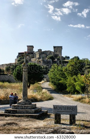Monterrei castle in Verin, Spain