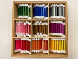 montessori material touch box colored cords # 3
