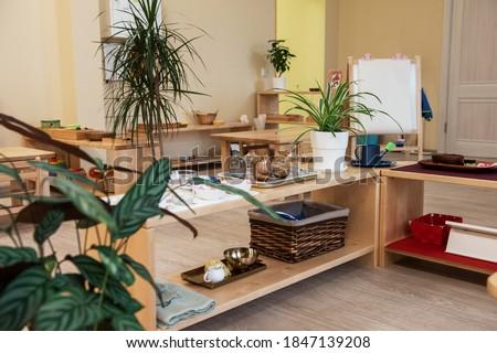 Montessori school for the learning of children ストックフォト ©