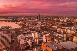 Montevideo at sunset, Uruguay
