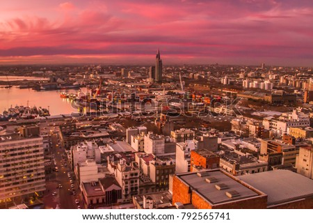 Montevideo at sunset, Uruguay #792565741