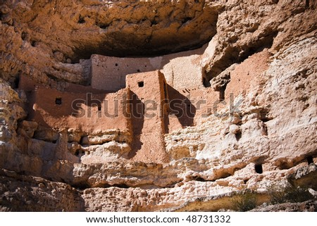 Montezuma Castle National Monument, located near Camp Verde, Arizona, in the Southwestern United States, features well-preserved cliff dwellings.