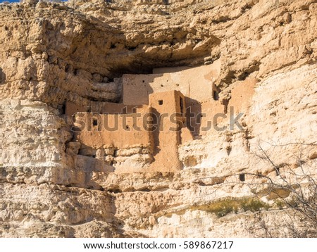 Montezuma Castle National Monument protects a set of well-preserved Ancestral Puebloan cliff dwellings near the town of Camp Verde, Arizona, United States.