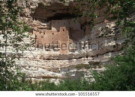Montezuma castle Pueblo Village Indian Ruins, Arizona