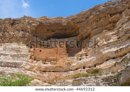 Montezuma's Castle in Arizona, an ancient cliff dwelling