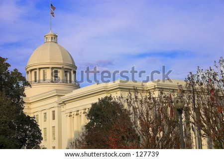 Montgomery Alabama Capitol - Center View