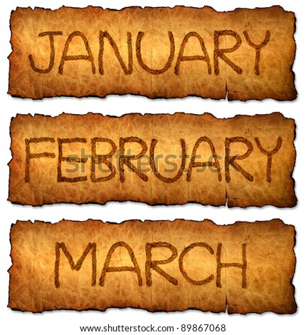 Month on old paper background for 2013 Calendar