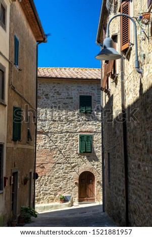 Montiano, Grosseto, Tuscany, italy: old village in Maremma. Typical street