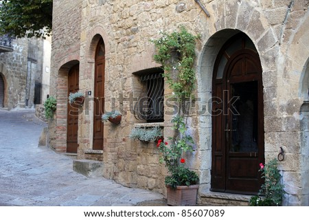 Monticchiello - Medieval village near Pienza . Tuscany. Italy