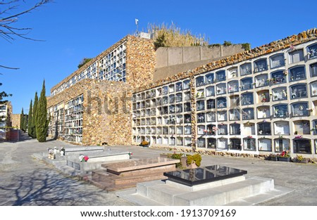 Montjuic Cemetery in Barcelona Catalonia Spain Foto stock ©