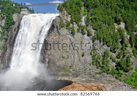 Montmorency Falls, near Quebec city