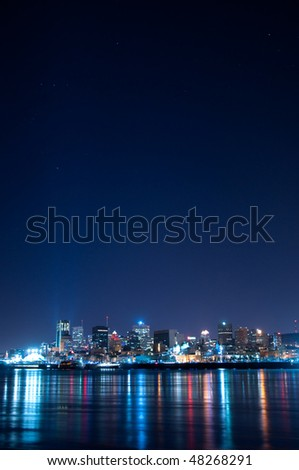 Montreal and the St-Lawrence river