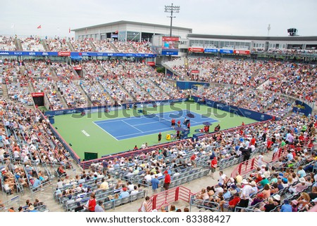 MONTREAL-AUGUST 07: Uniprix Stadium (French: Stade Uniprix) is the main tennis court at the Canada Masters tournament in Montreal, Quebec on 07 August 2011, Montreal, Canada
