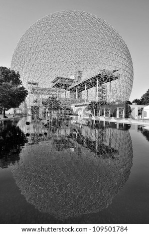 MONTREAL-CANADA AUG. 3: The Biosphere is a museum in Montreal dedicated to the environment. Located at Parc Jean-Drapeau in the former pavilion of the United States on Aug. 3 2012 Montreal, Canada