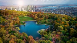 Montreal Canada autumn season coulors