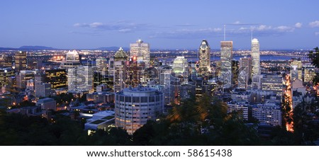 Montreal Downtown at Dusk