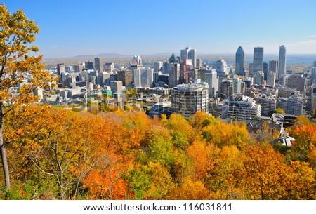 Montreal during foliage season, Qc, Canada