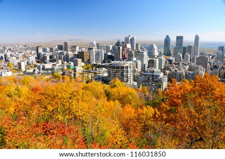 Montreal during foliage season, Quebec, Canada
