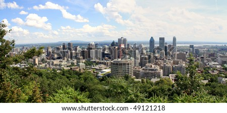 Montreal panorama view