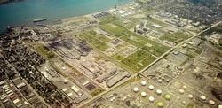 Montreal petrol port at Point-Aux-Trembles aerial view
