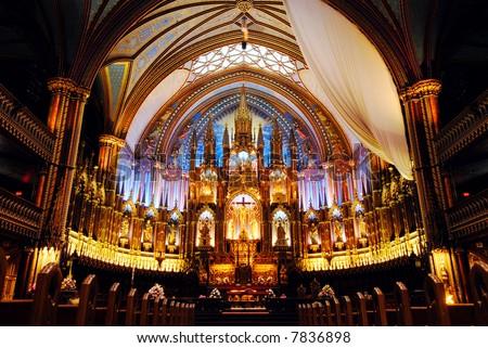 Montreal's Historic Notre Dame Basilica