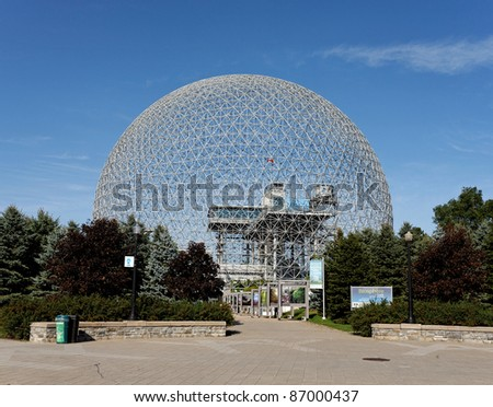 MONTREAL - SEPTEMBER 27: The Montreal Biosphere in Montreal, Quebec on September 27, 2011. The dome, originally used as a pavilion during the 1967 World's Fair, now houses an environmental museum.