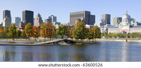 Montreal skyline in autumn