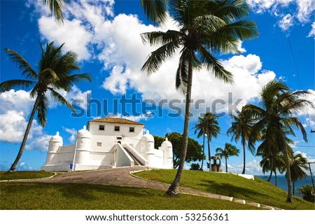 montserrat fort in the beautiful city of salvador of bahia state brazil