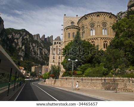 Montserrat is a mountain near Barcelona, in Catalonia. It is the site of a Benedictine abbey, Santa Maria de Montserrat, which hosts the Virgin of Montserrat sanctuary