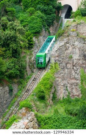 Montserrat mountain train. Spain