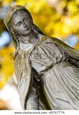 Monument Lady of Guadalupe on a cemetery. Since its creation in 1787 Lychakiv Cemetery Lvov, Ukraine