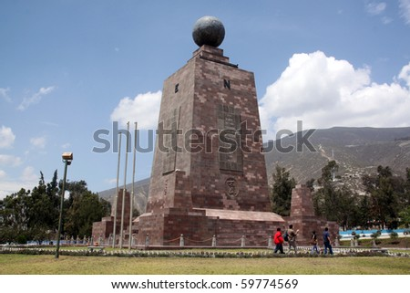 Monument Mitad del Mundo near Quito in Ecuador