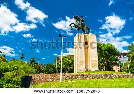 Monument of Francisco Solano Lopez in Asuncion, Paraguay Foto d'archivio ©