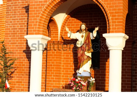 Monument of Jesus Christ near the Church of St. Simeon and St. Helena. Minsk, Belarus - 26 October 2019, Illustrative Editorial #1542210125