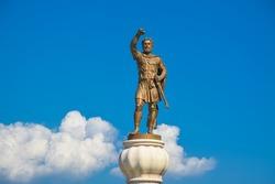 Monument of King Philip of Macedonia in Skopje.
