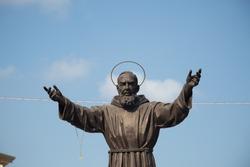 Monument of Padre Pio, saint in Calabria