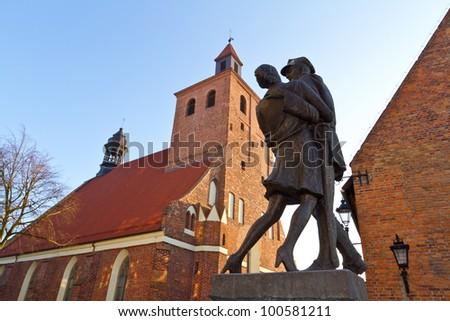 Monument of Polish soldier in Grudziadz
