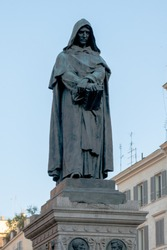 Monument of the monk Giordano Bruno on the Campo dei Fiori, at this point he was burned at the stake for heresy in the Middle Ages
