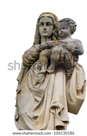 Monument of the woman with the child on a cemetery. Since its creation in 1787 Lychakiv Cemetery Lvov, Ukraine