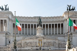Monument of Victor Emanuil II from Venezia square in Rome