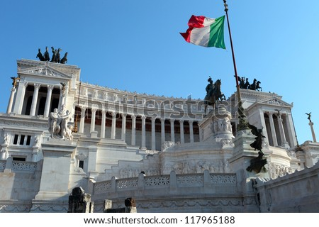 Monument of Vittorio Emanuele II in Rome, Italy