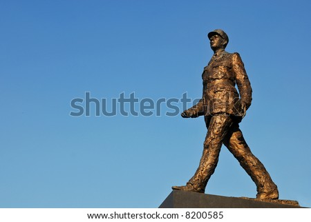 Monument sculpture of french president Charles de Gaulle