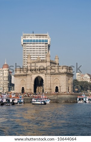 Monument The Gateway of India and the Tower Wing in Mumbai, India