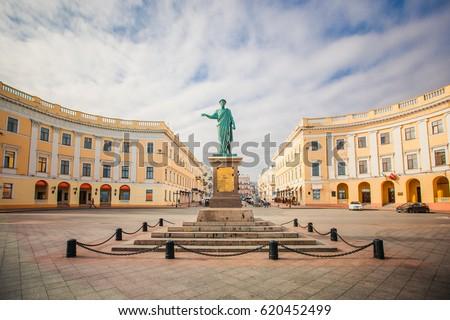 Monument to Duc de Richelieu in Odessa #620452499
