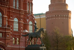 Monument to Marshal Zhukov Red Square Moscow Russia