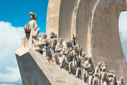 Monument to the Discoveries at Belem. Lisbon. Portugal.