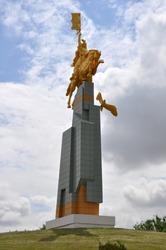 monument to the horseman in Kalmykia